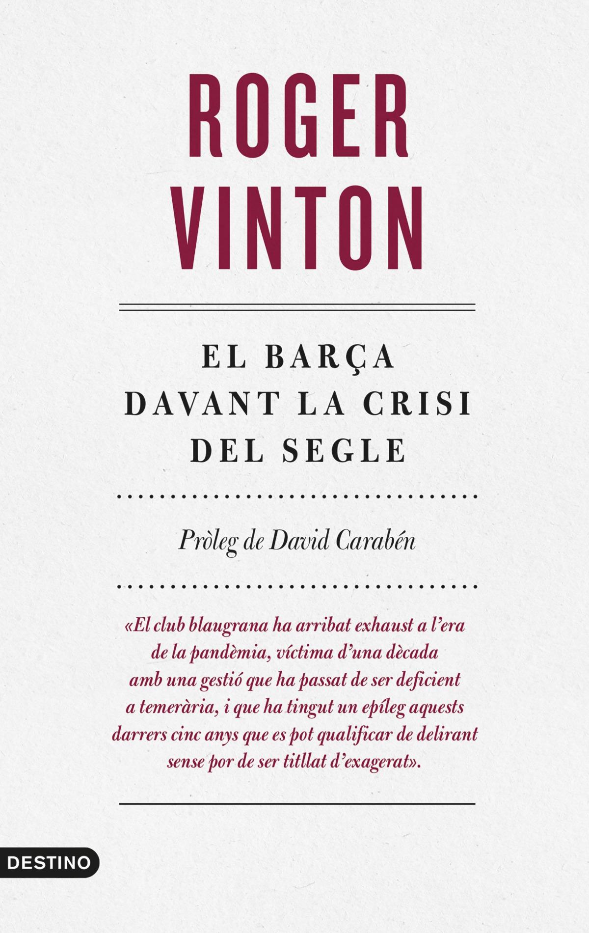El Barça davant la crisi del segle 9788497103169