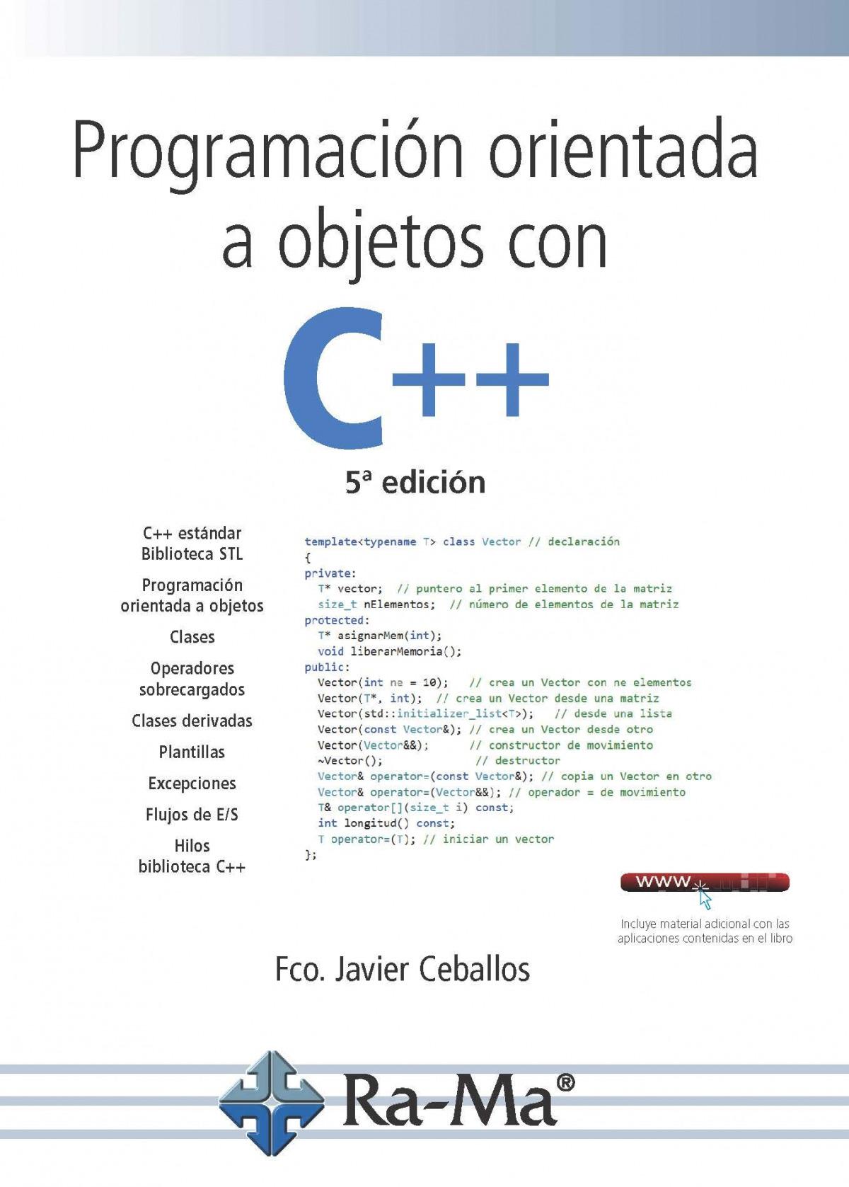 PROGRAMACIÓN ORIENTADA A OBJETOS CON C++ 9788499647548