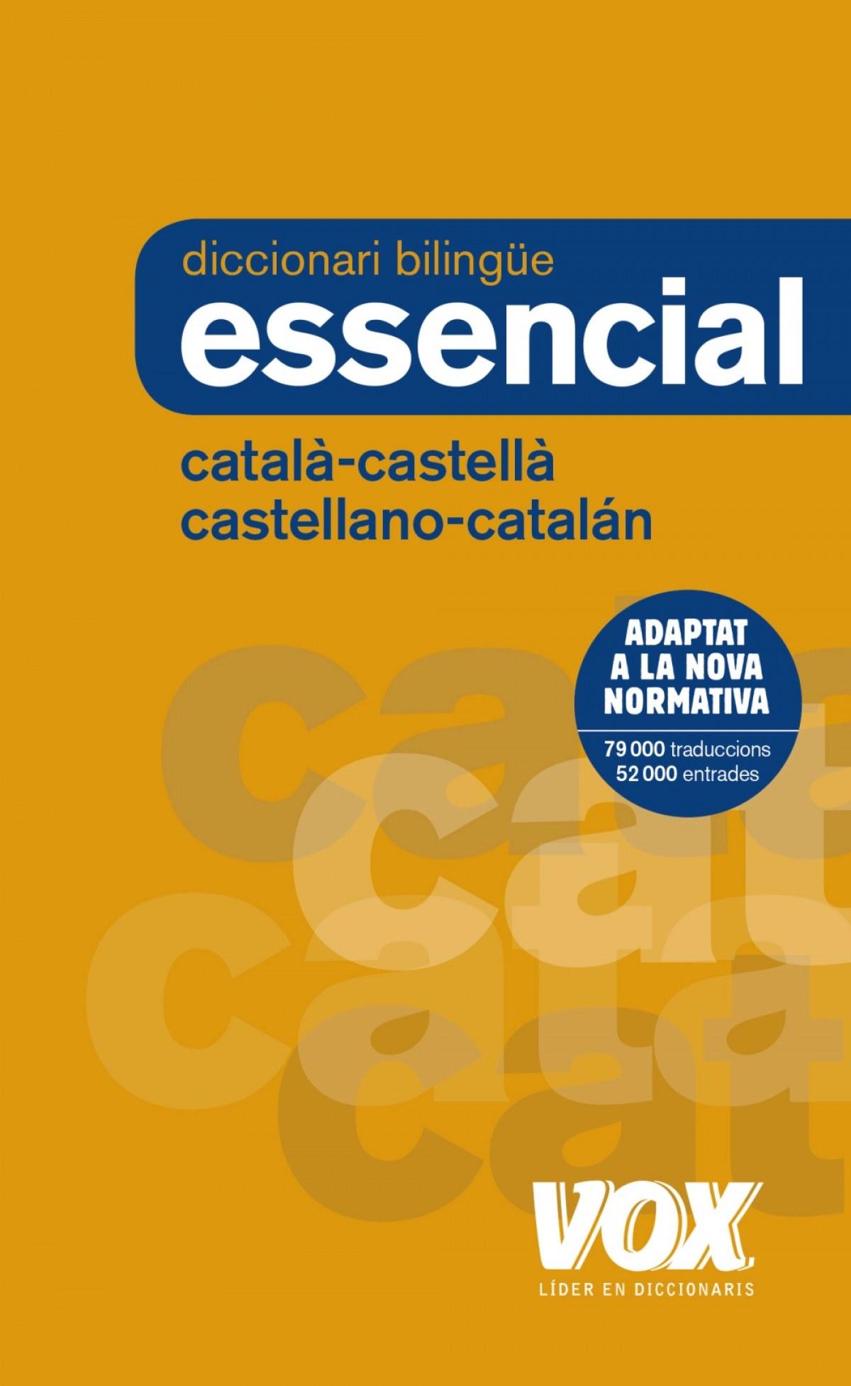 DICCIONARI ESSENCIAL CATALÁ-CASTELLÀ/CASTELLANO-CATALÁN 9788499742717