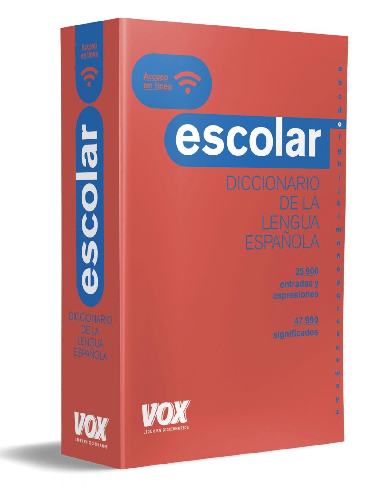 DICCIONARIO ESCOLAR DE LA LENGUA ESPAñOLA 9788499742823