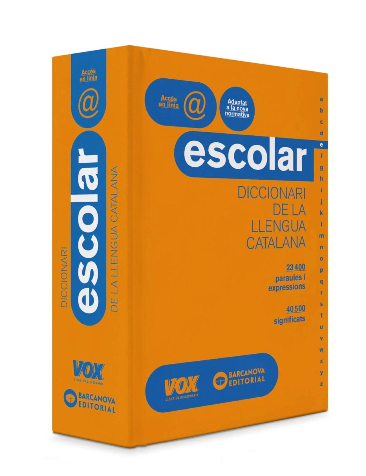 DICCIONARI ESCOLAR DE LLENGUA CATALANA 9788499742830