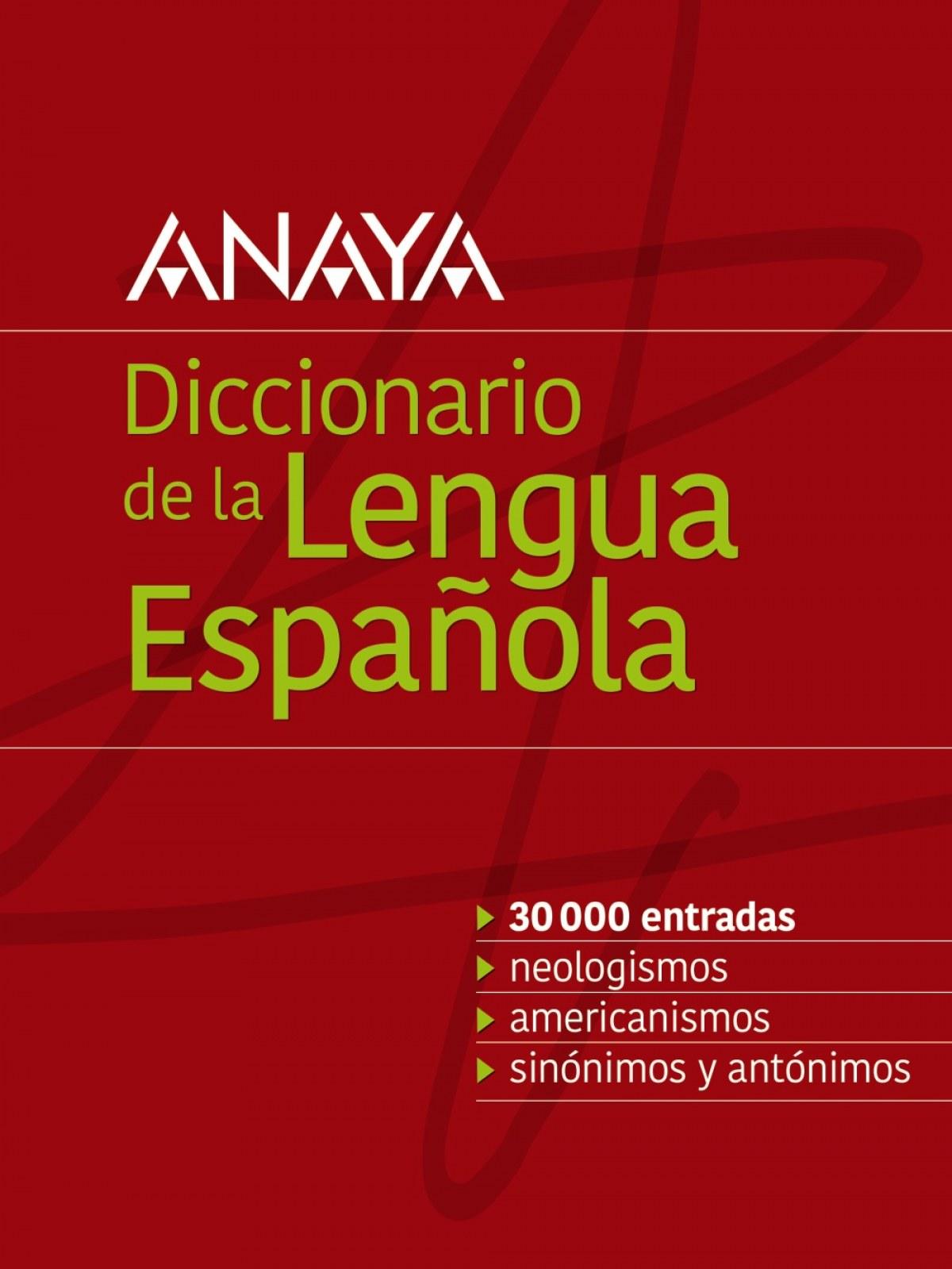 DICCIONARIO ANAYA DE LA LENGUA ESPAñOLA 9788499743073