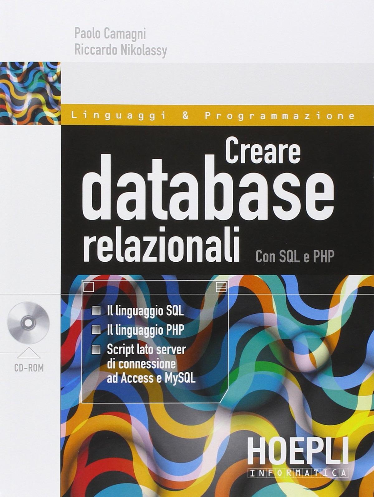 Creare database relazionali con SQL e PHP 9788820362850