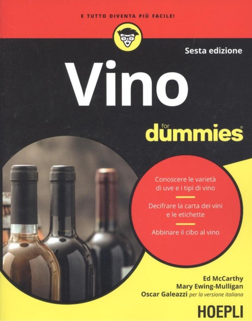 VINO FOR DUMMIES 9788820386306
