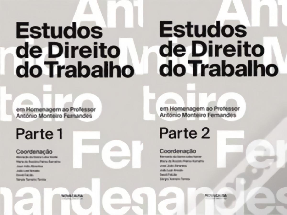 2 volumenes estudios de direito do trabalho 9789898515513