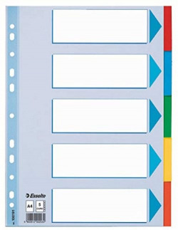 Bolsa 5 separadores a4 con 5 colores esselte carton 200g 5902812001914