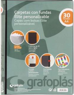 Carpeta personalizable A4 30 fundas soldadas color negro Elite 8413623894222