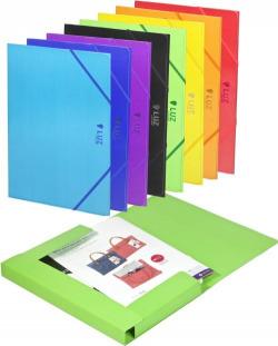 Paq/5 carpeta fo. carton gomas y solapas verde luz 8422951019351